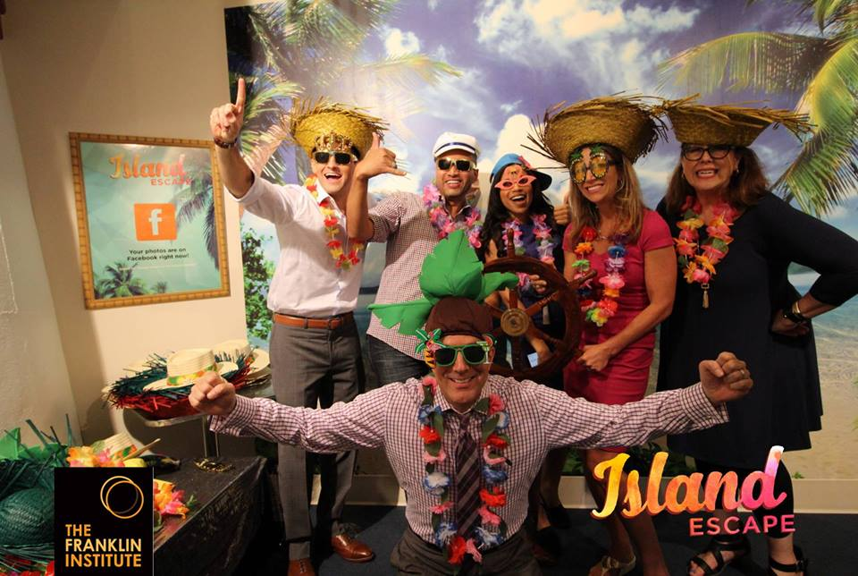 people posing for a photo after completing Island Escape Room