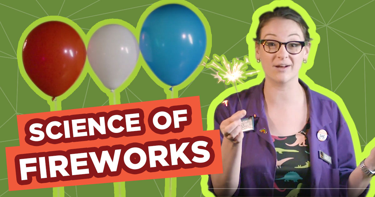 Spark of Science Fireworks Graphic