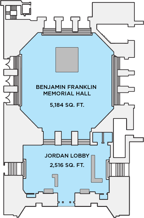 Franklin Hall and Jordan Lobby Floor Plan