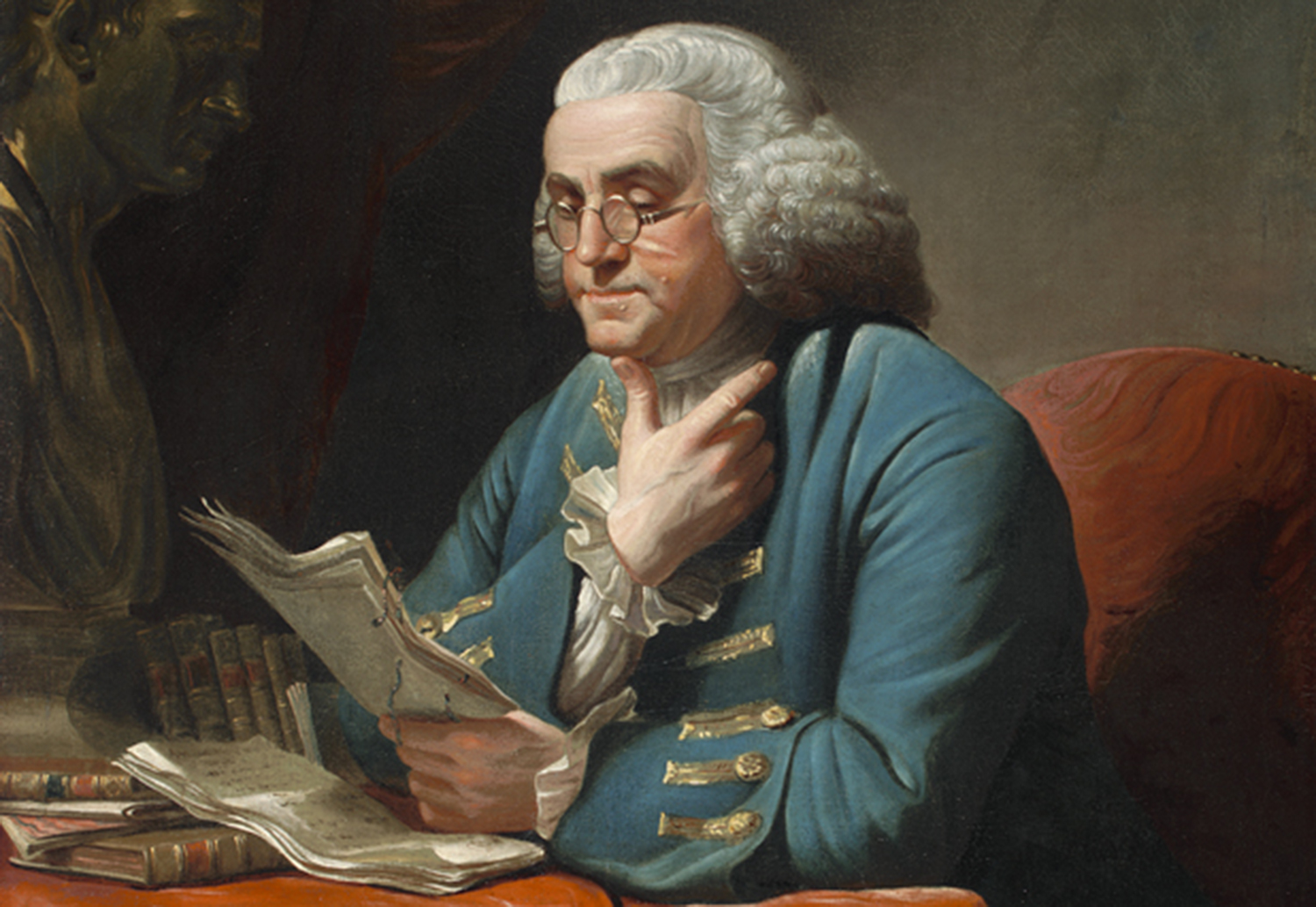 Painting of Benjamin Franklin by David Martin
