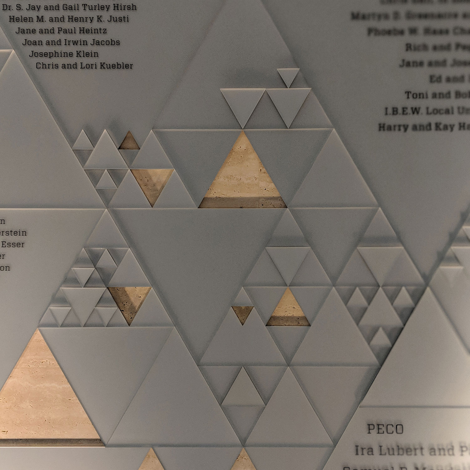 Sierpinski Triangle Wall at The Franklin Institute