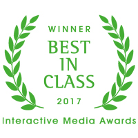 Best in class 2017 award frm IMA (Interactive Media Awards)