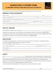 Consent Form for Homeschool Workshop