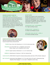 Scout Days Boy Scout Flyer 2015 at The Franklin Institute