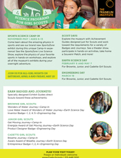 Scout Days Girl Scout Flyer 2015 at The Franklin Institute