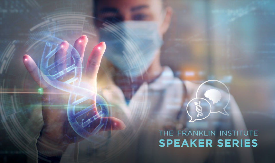 Speaker Series Graphic of Doctor and DNA