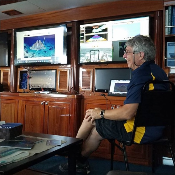 Dr. Chris Kelley in the E/V Nautilus