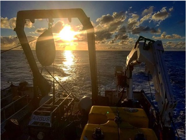 view of sunset from the E/V Nautilus