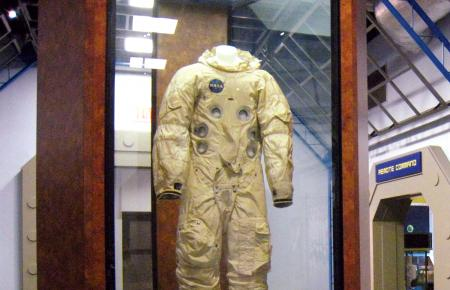 Astronaut suits previously worn in space.