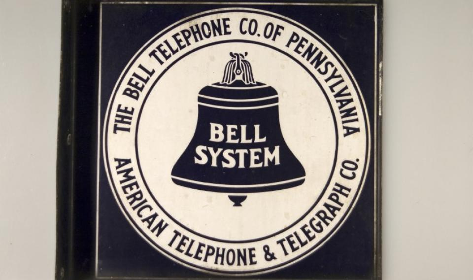Historical photo of the old Bell Telephone logo