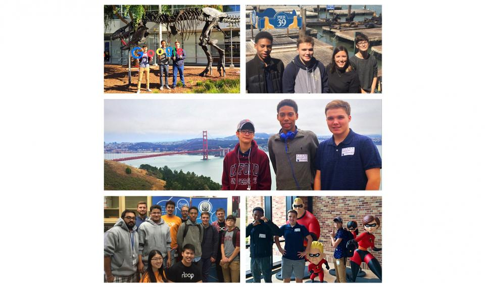 Students take part in a whirlwind STEM tour in California