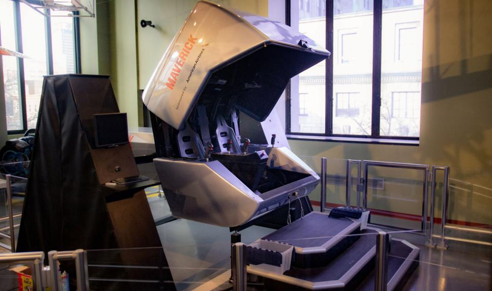 Photograph of Take Flight! simulator