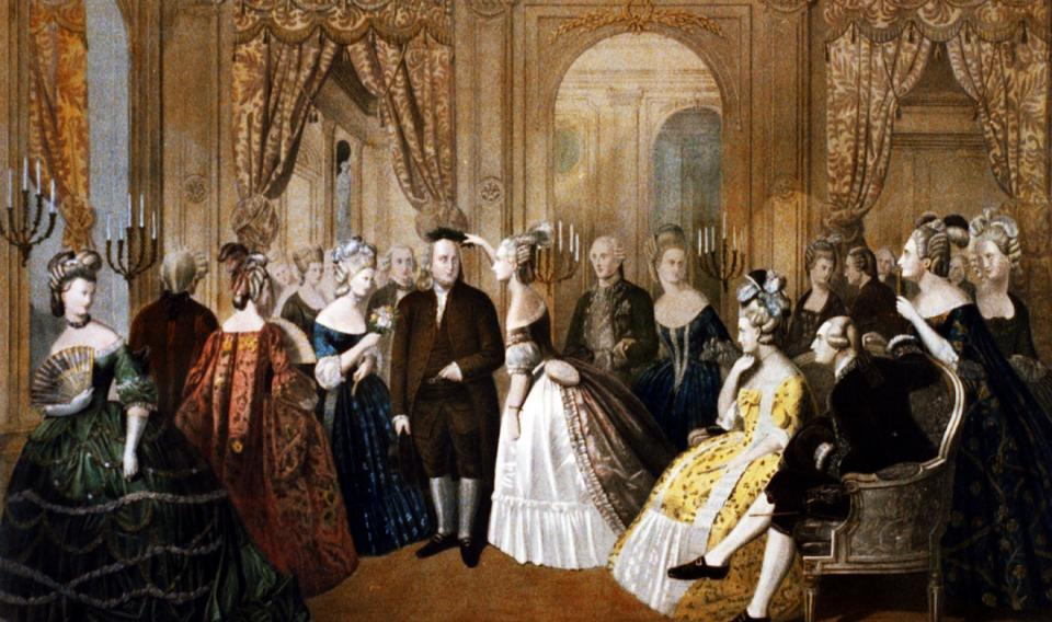 Anton Hohenstein (American, born Germany, 1823-1872)   Franklin's Reception at the Court of France, 1778   1860   Library of Congress