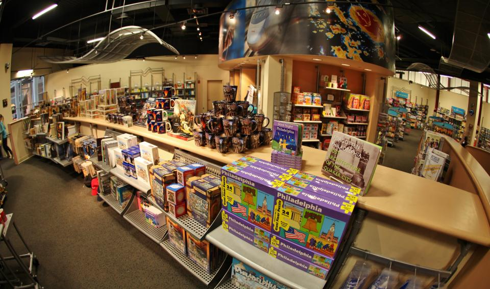 Image of rows of merchandise in the science store at The Franklin Institute.