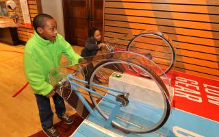 Children playing at SportsZone at The Franklin Institute