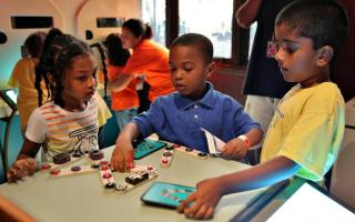 Photo of Children Learning About Circuits at The Franklin Institute