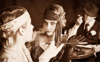 Photo of women dressed as 1920s flappers