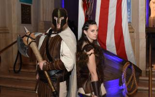 man and woman dressed as Vikings