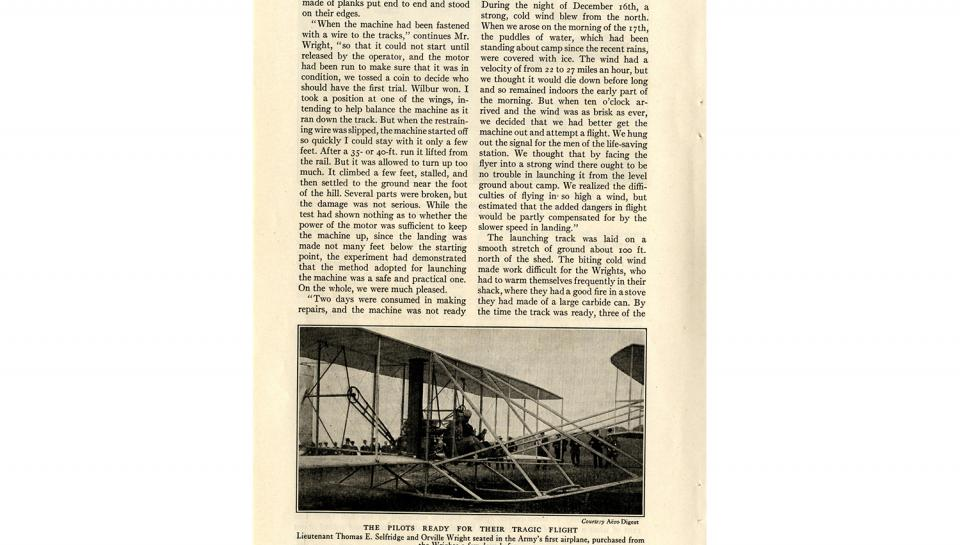 """Page 5 of 14: """"World's Work"""" magazine article on the Wright brothers, September, 1928"""