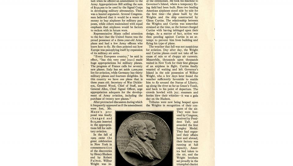 """Page 13 of 14: """"World's Work"""" magazine article on the Wright brothers, September, 1928"""