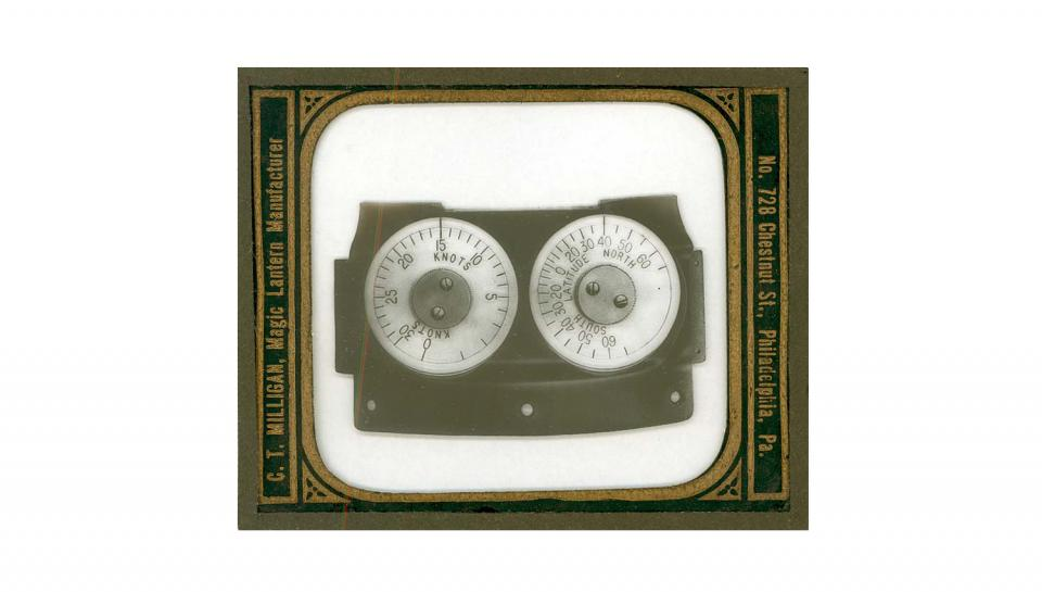 Old photo of the gyro-compass