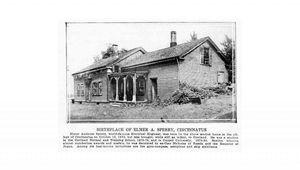 A photo of the house that Elmer A Sperry was born in