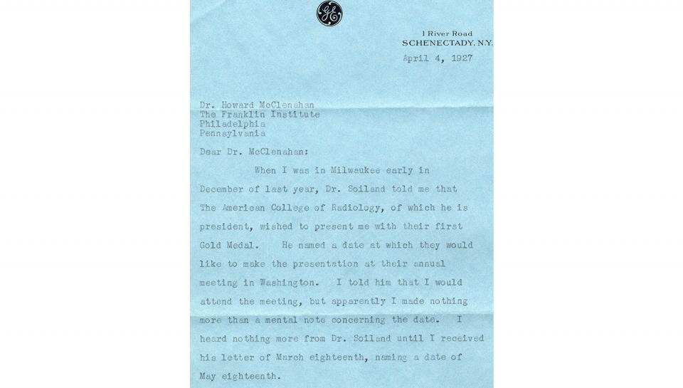 Letter from Coolidge April 4 part 1