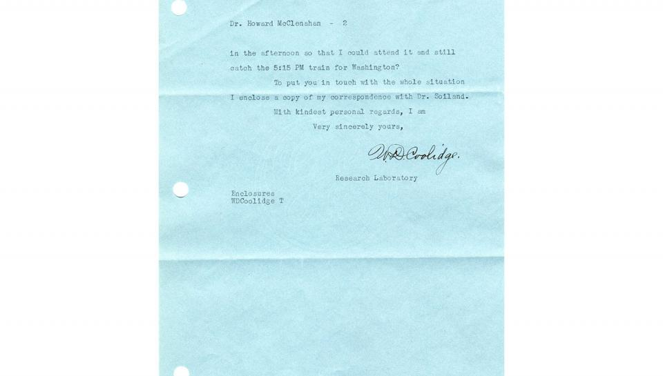 Letter from Coolidge April 4 part 2