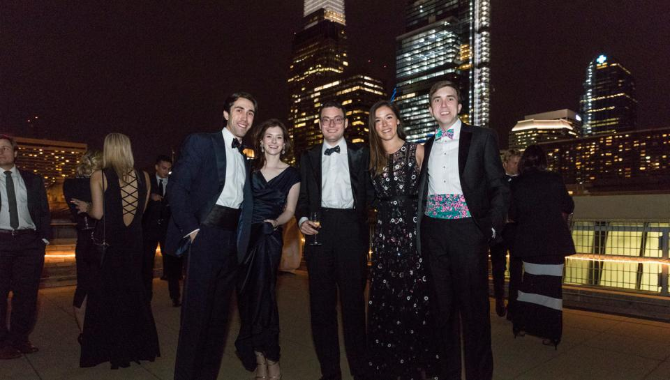 Guests at The Franklin Awards posing together outside