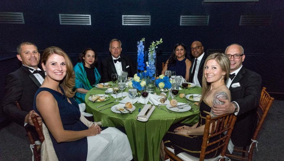 Guests at the Franklin Awards eating dinner