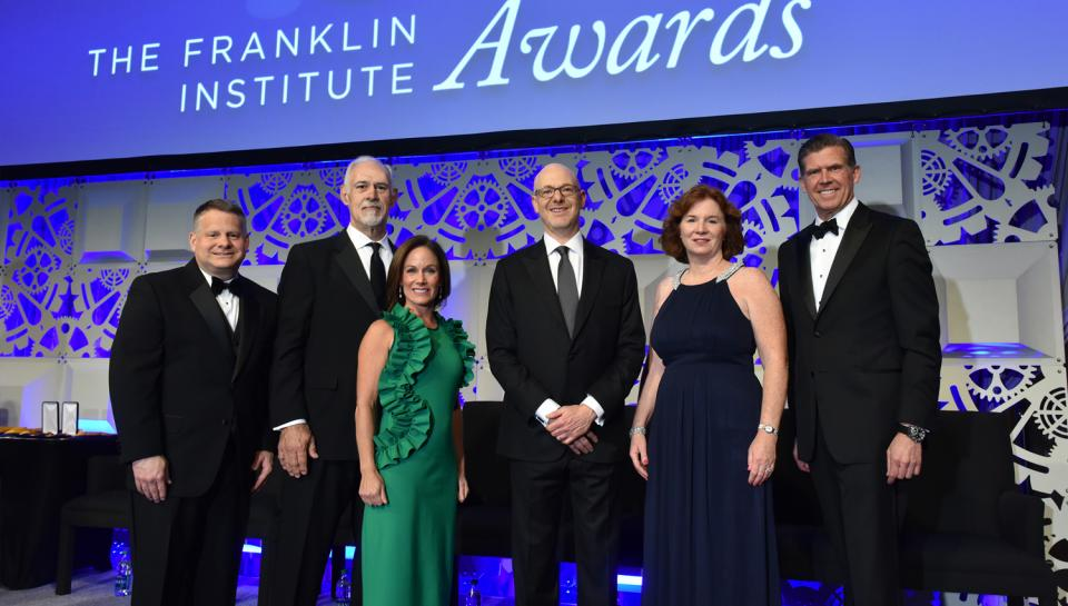 Franklin Awards ceremony with people posing