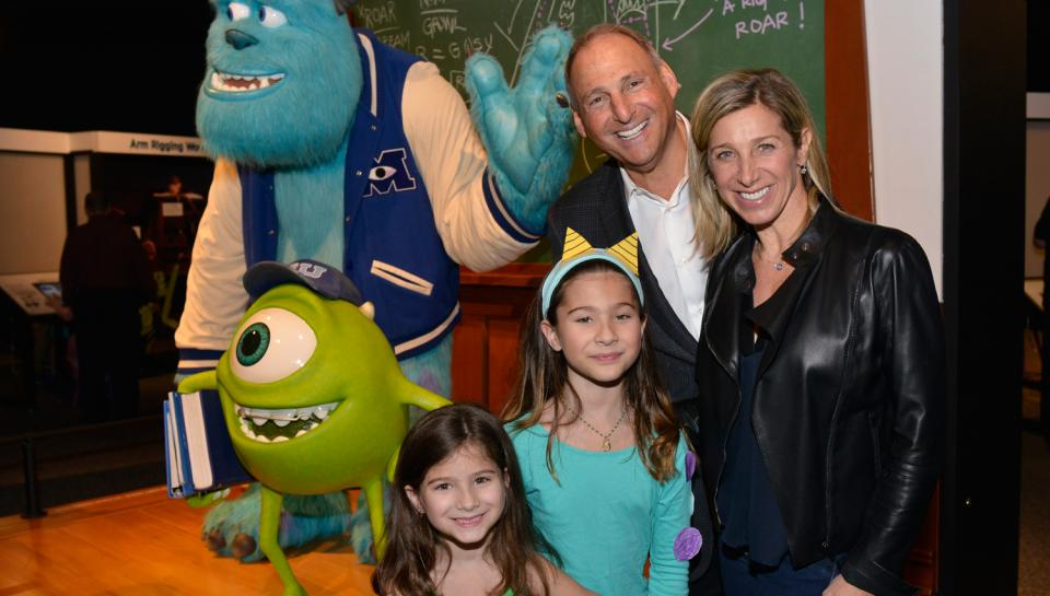 A happy family at The Science Behind Pixar at The Franklin Institute