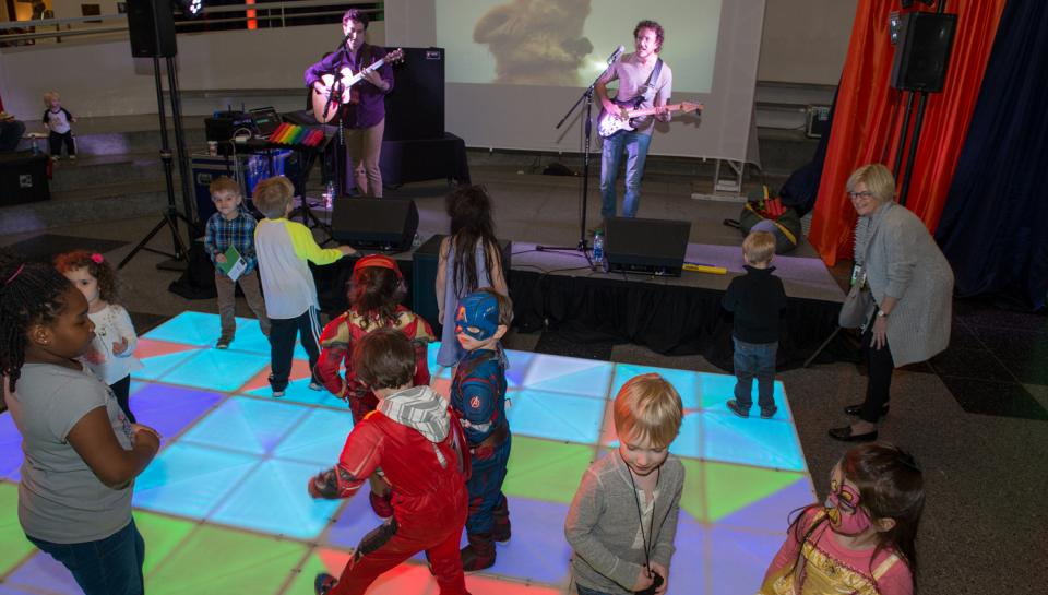 A dance party at The Science Behind Pixar at The Franklin Institute