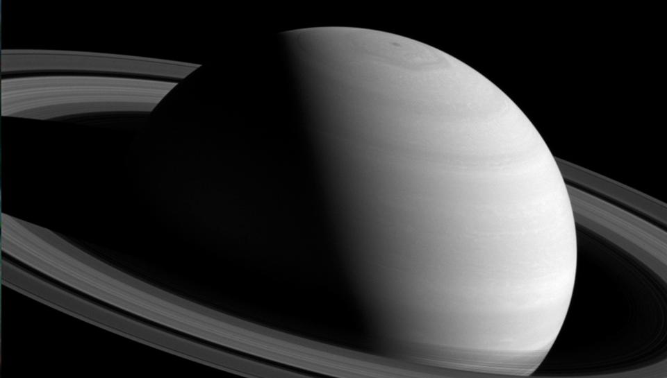 Image of Saturn from Cassini taken from the ring of Saturn.