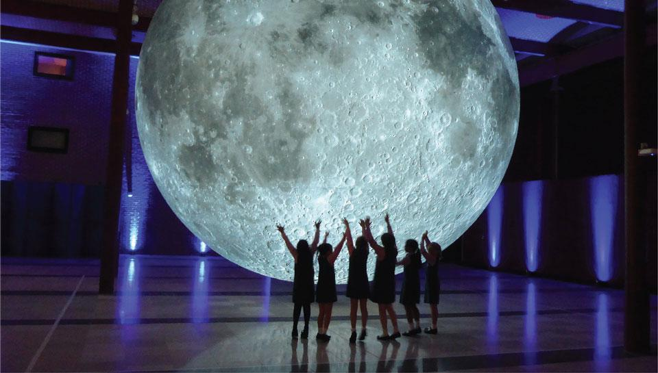 Image result for museum of the moon franklin institute