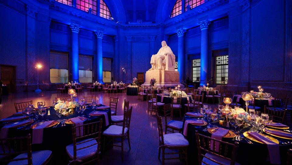 Benjamin Franklin national memorial set up for an event image 8