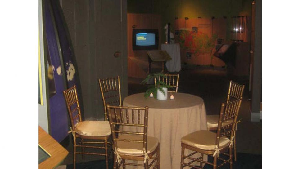 Changing Earth exhibit set up to host an event at The Franklin Institute.