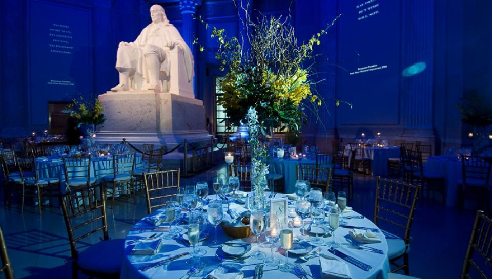 Benjamin Franklin national memorial set up for an event image 7