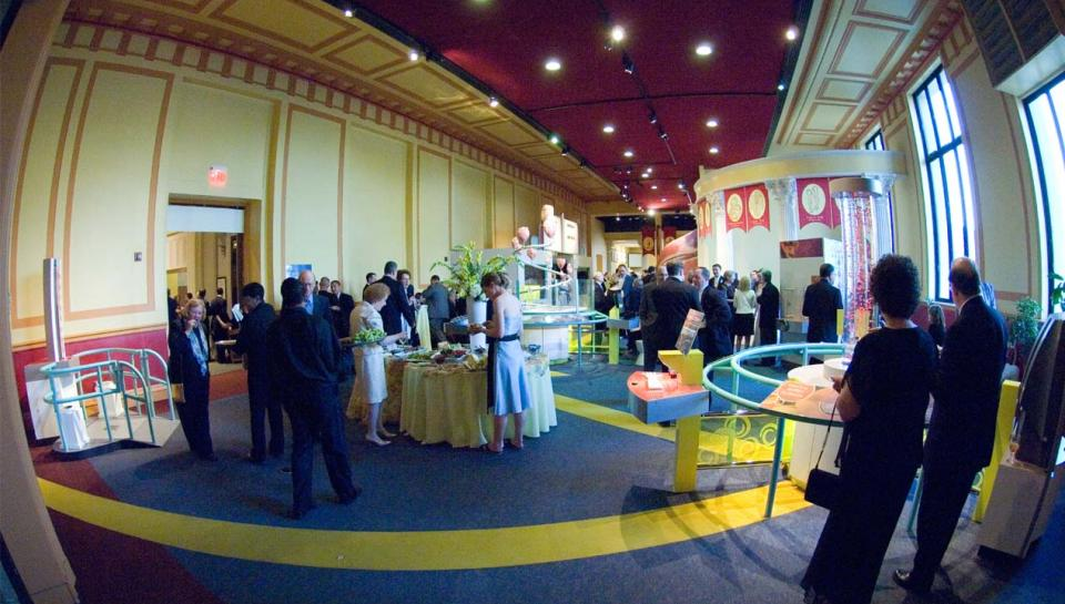 An event reception in The Giant Heart exhibit.