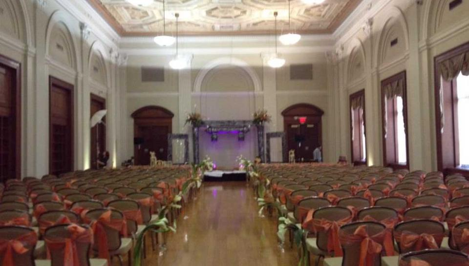 Pepper Hall set up to host an event at The Franklin Institute.