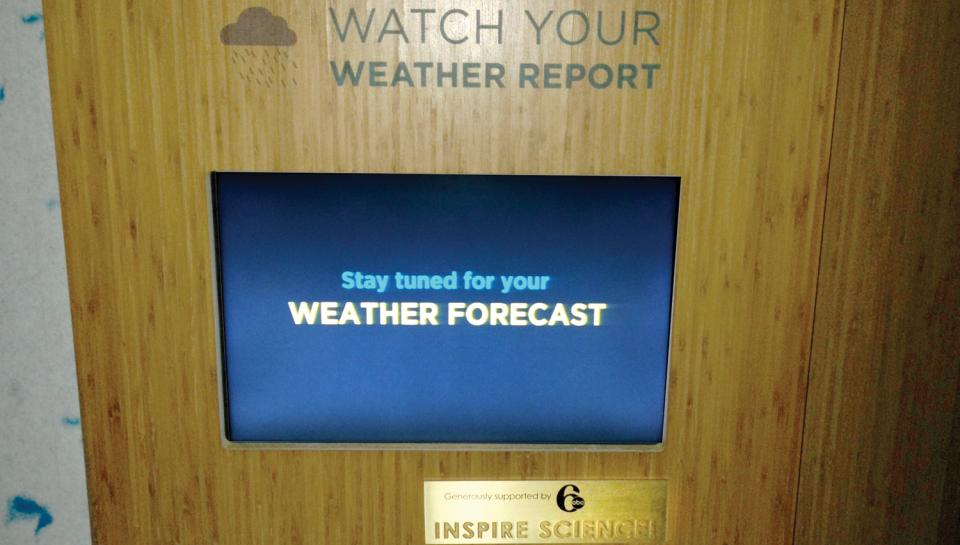 6ABC sponsors an interactive device in the Changing Earth exhibit.