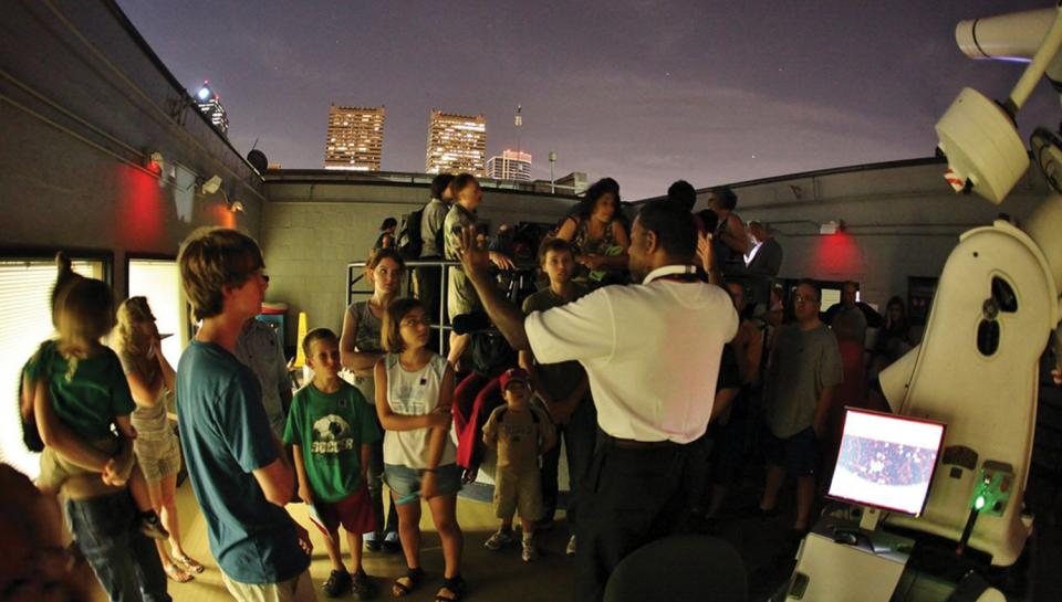 Night Skies is a monthly event open to the public.