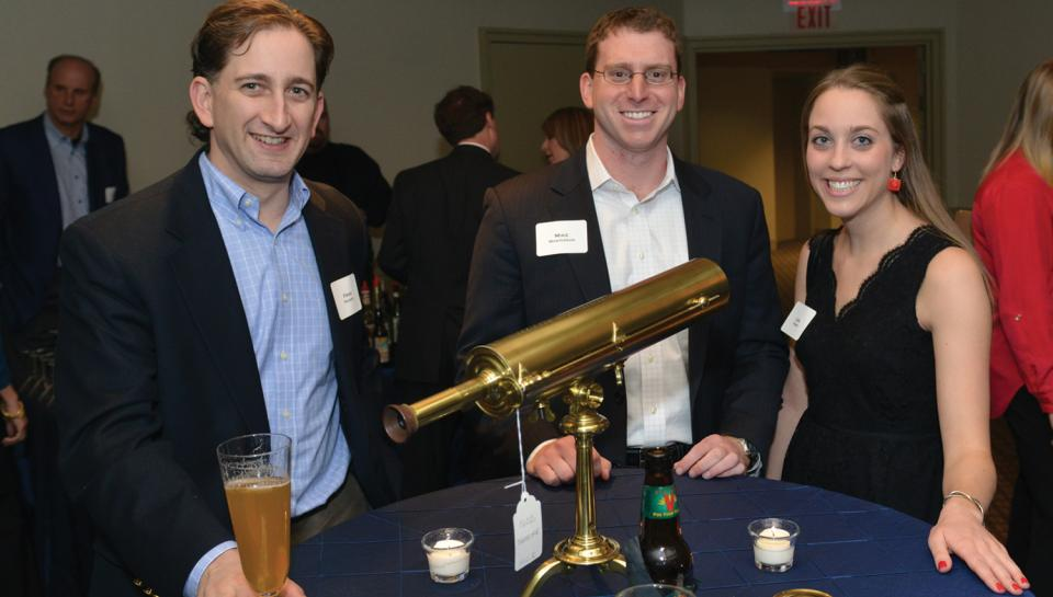 Honored guests at the reception for a Night Skies event at The Franklin Institute.