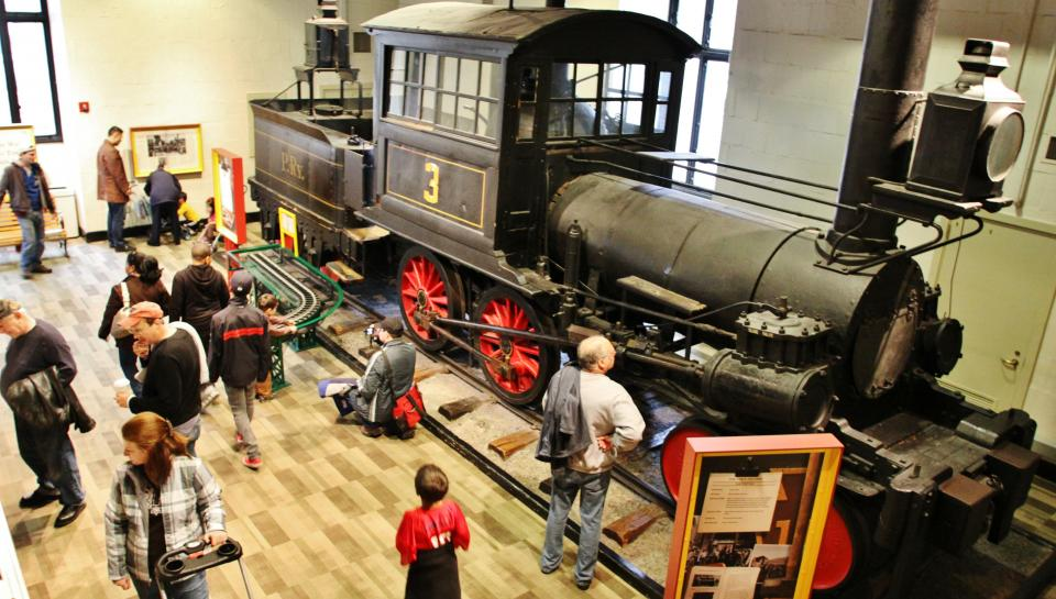overview of The Train Factory exhibit
