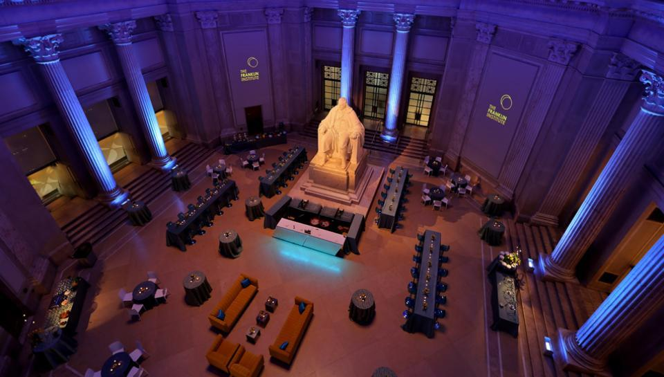 Benjamin Franklin national memorial set up for an event image 4