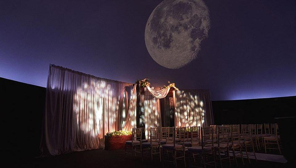 Fels Planetarium wedding setup