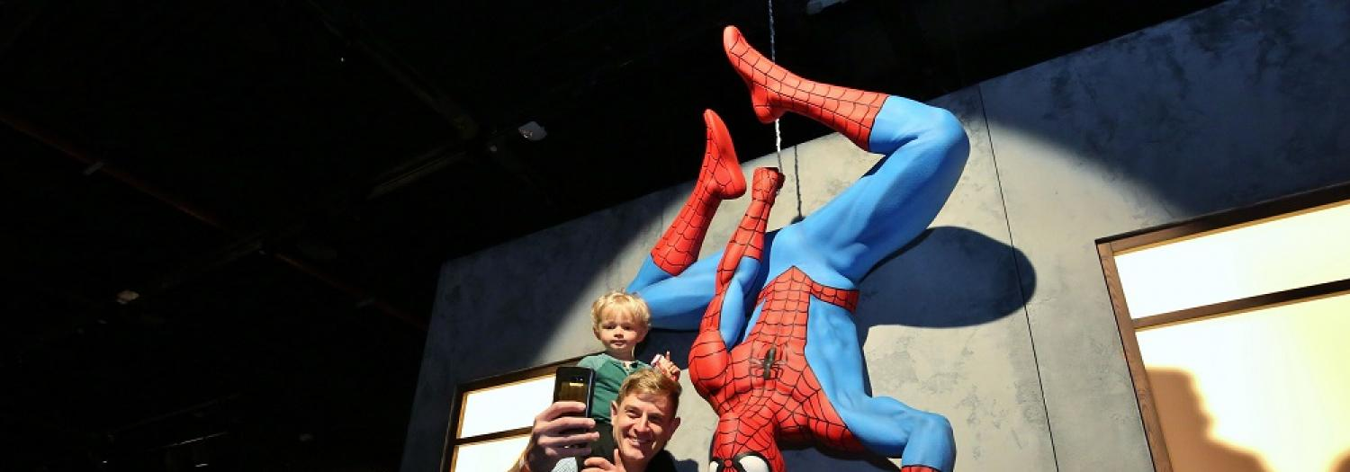 Man and Child with Spider-Man
