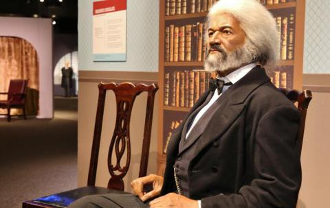 """Frederick Douglass as seen in """"The Presidents by Madame Tussauds"""" exhibit"""