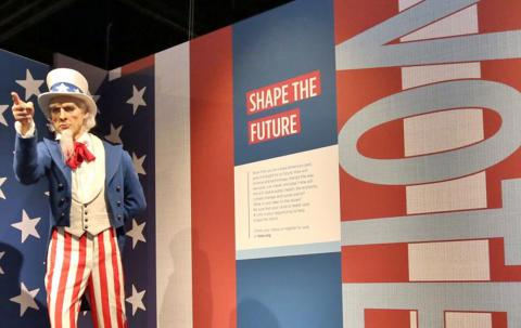 """Uncle Sam as seen in """"The Presidents by Madame Tussauds"""" exhibit"""