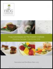 FROG Wedding Menu